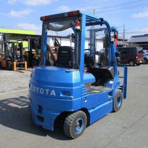Xe Nâng Điện Toyota 2.5tấn, nâng cao 3.7 mét, ngồi lái