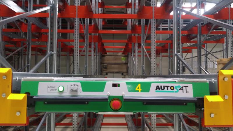 Robot pallet shuttle - bộ phận quan trọng trong hệ thống kệ hàng radio pallet shuttle