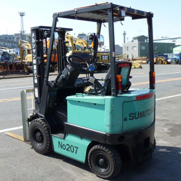 Xe Nâng Điện tự động Sumitomo 1.5 tấn, nâng cao 3 mét, ngồi lái