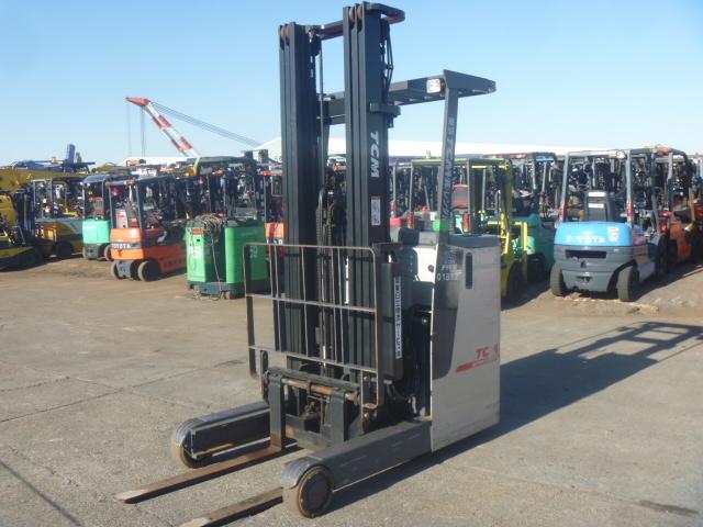 Xe Nâng Điện TCM 1.5 tấn, nâng cao 4 mét, ngồi lái
